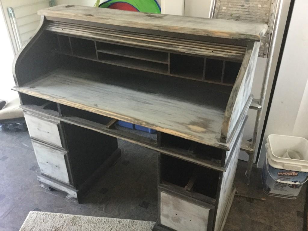 sanded desk